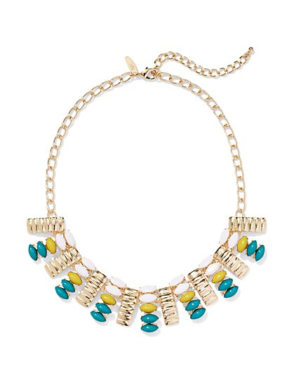 Textured Bib Necklace  - New York & Company