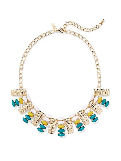 Textured Bib Necklace  - New York & Company