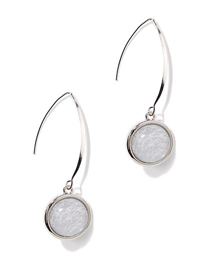 Textured-Cabochon Teardrop Earrings