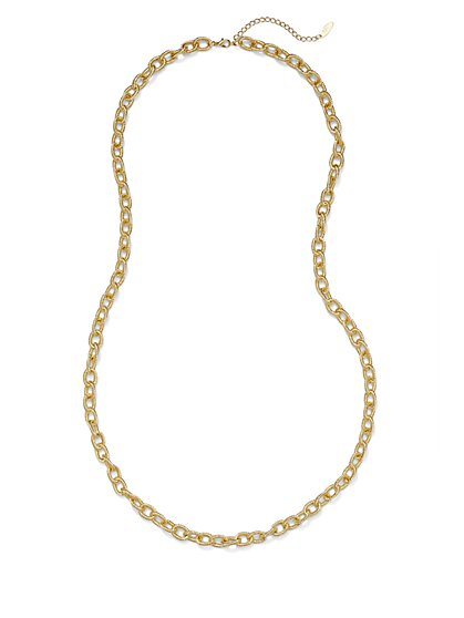 Textured Chain-Link Necklace  - New York & Company