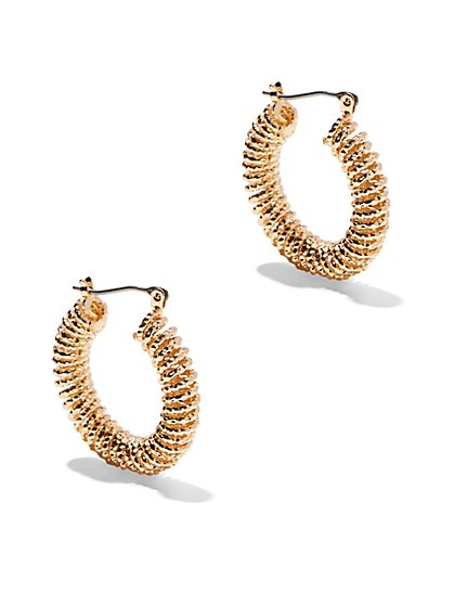 Textured Coil Hoop Earring  - New York & Company