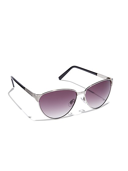 Textured Gradient-Lens Sunglasses  - New York & Company
