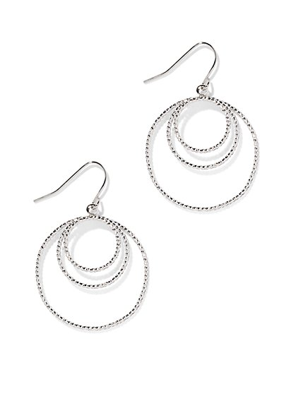 Textured Hoop Drop Earring - New York & Company
