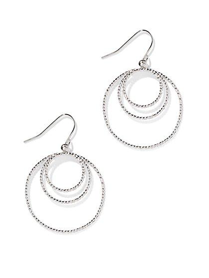 Textured Hoop Drop Earring - New York & Company