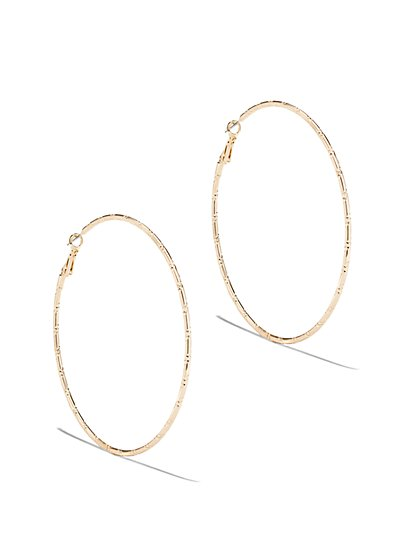 Textured Hoop Earring  - New York & Company
