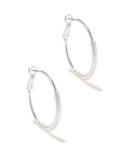 Textured Hoop Earring - New York & Company