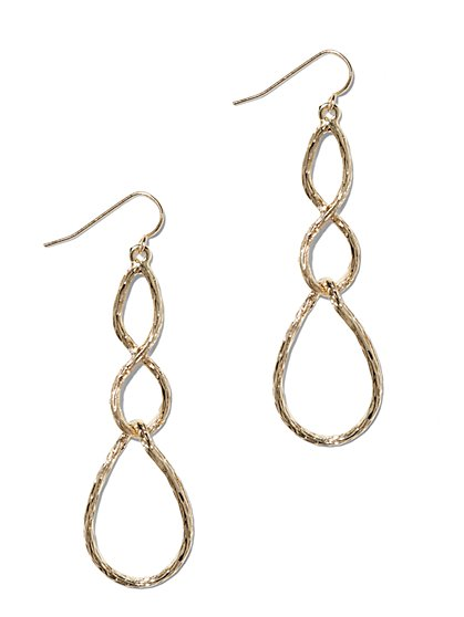 Textured Infinity Drop Earring  - New York & Company