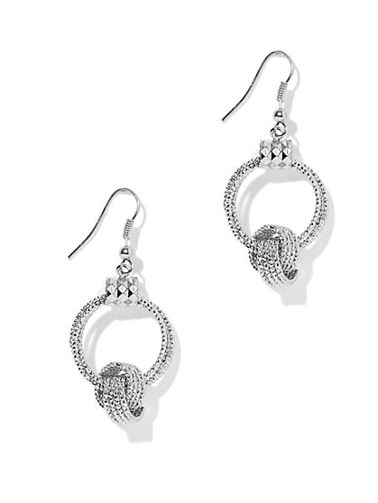 Textured Knot Circular Drop Earring  - New York & Company