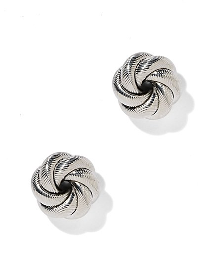 Textured Knot Earring  - New York & Company