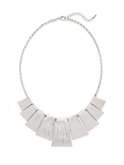 Textured Plates Necklace - New York & Company