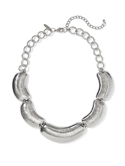 Textured-Plates Necklace - New York & Company