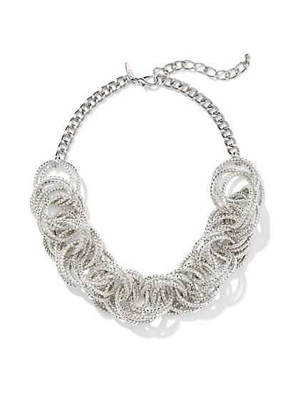 Textured Ring Necklace  - New York & Company