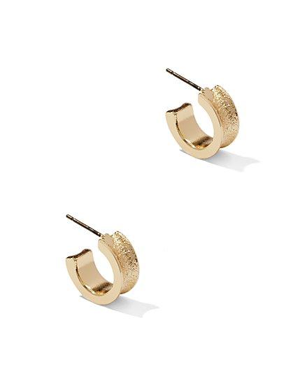 Textured Small Hoop Earring  - New York & Company