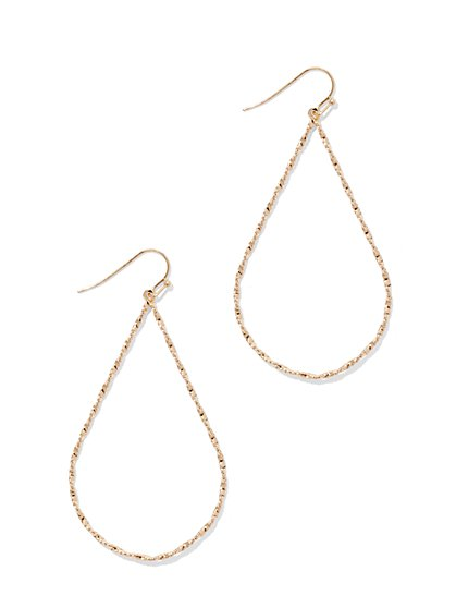 Textured Teardrop Earring  - New York & Company