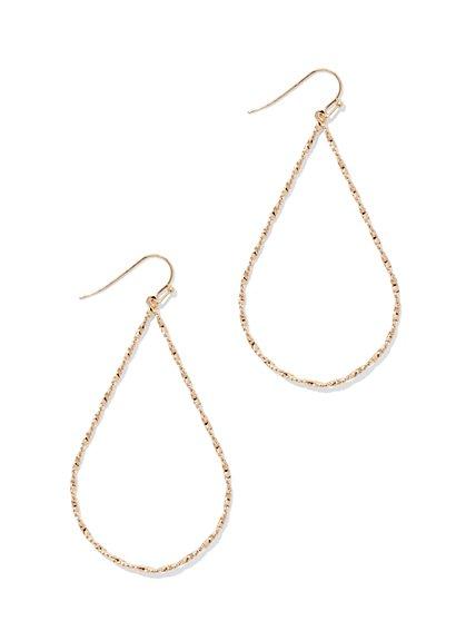 Textured Teardrop Earring  - New York & Company