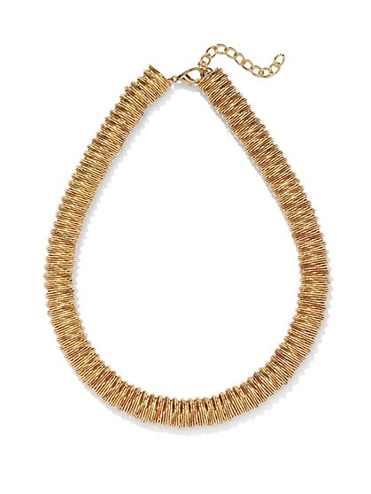 Textured Tube Collar Necklace  - New York & Company