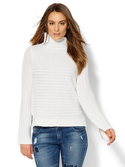Textured Turtleneck Sweater  - New York & Company