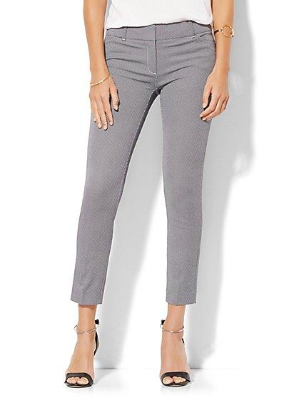 The Audrey Ankle Pant - Black Polka Dot  - New York & Company