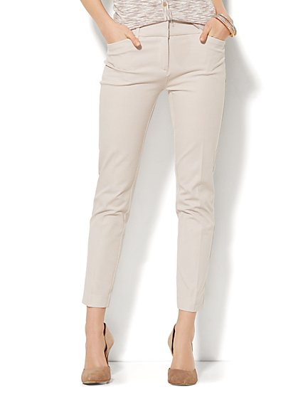 The Audrey Ankle Pant - Driftwood Polka Dot  - New York & Company