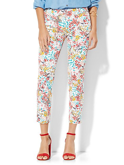The Audrey Ankle Pant - Floral Print - New York & Company
