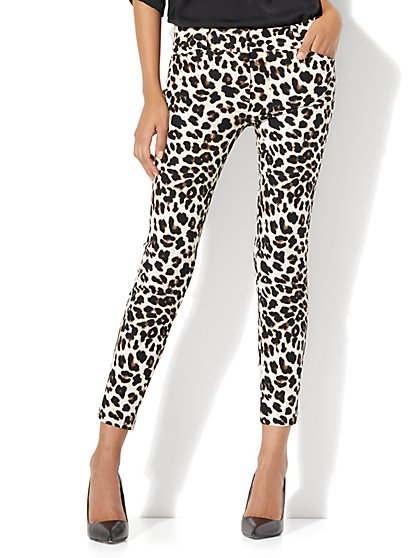 The Audrey Ankle Pant - Leopard Print - Petite - New York & Company
