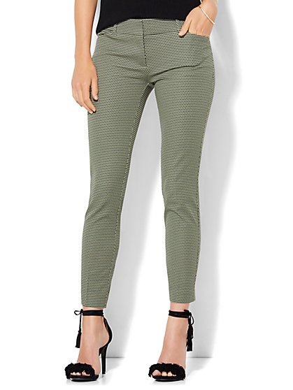 The Audrey Ankle Pant - Olive Polka-Dot   - New York & Company