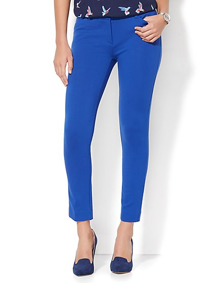 The Audrey Ankle Pant - Ponte - New York & Company