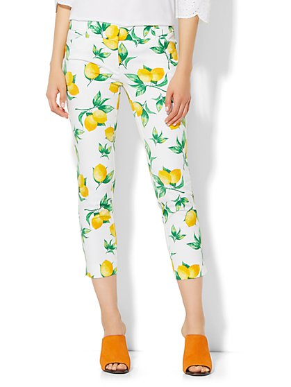 The Audrey Crop Pant - Lemon Print - New York & Company
