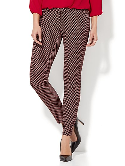 The Audrey Pant - Grid Print - New York & Company