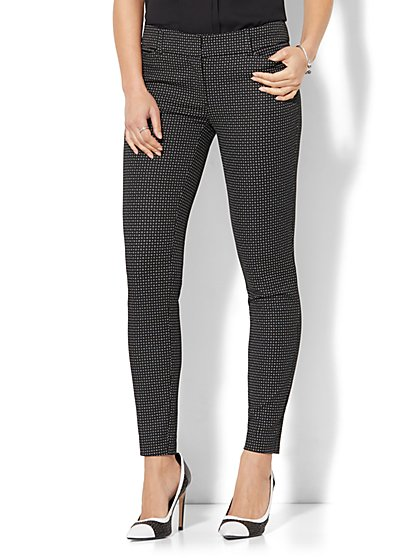 The Audrey Pant - Slim-Leg - Dot Print - New York & Company