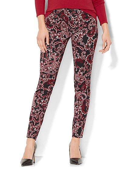 The Audrey Pant - Slim-Leg - Paisley Print - New York & Company