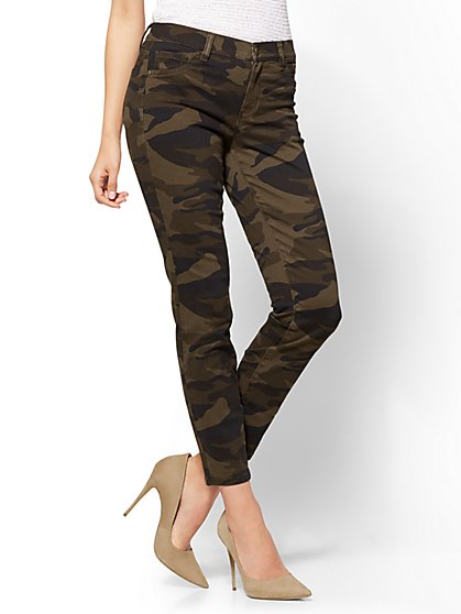 The Crosby Pant -  Slim-Leg Ankle - Camouflage - New York & Company