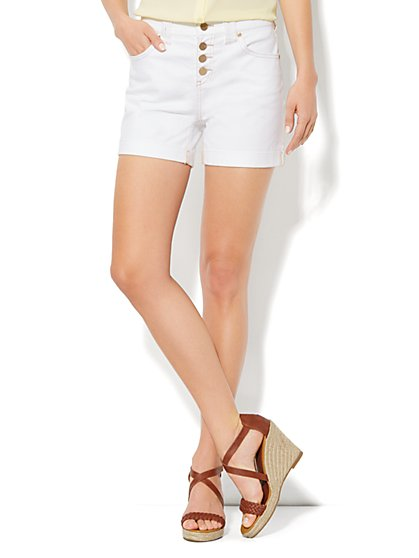 The Montauk High-Waist Short - Optic White