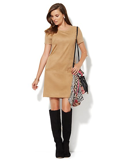 The Ultra-Suede Sweater Dress  - New York & Company