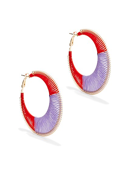 Threaded Hoop Earring