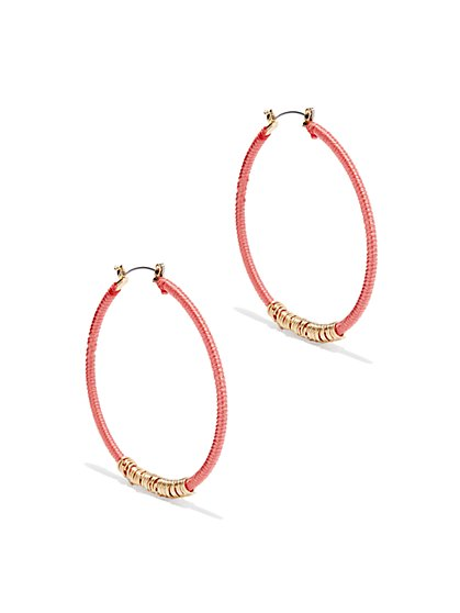 Threaded Hoop & Links Earring