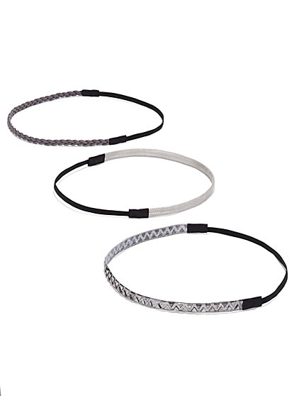 Three-Piece Headband Set - Silver - New York & Company