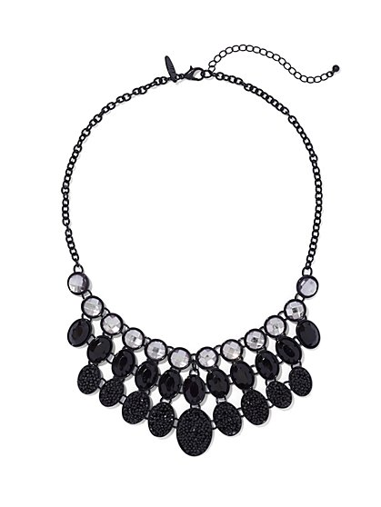 Three-Row Bib Necklace  - New York & Company