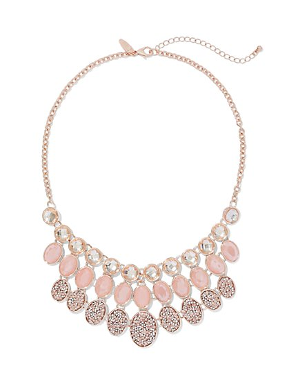 Three-Row Bib Necklace  - New York & Company