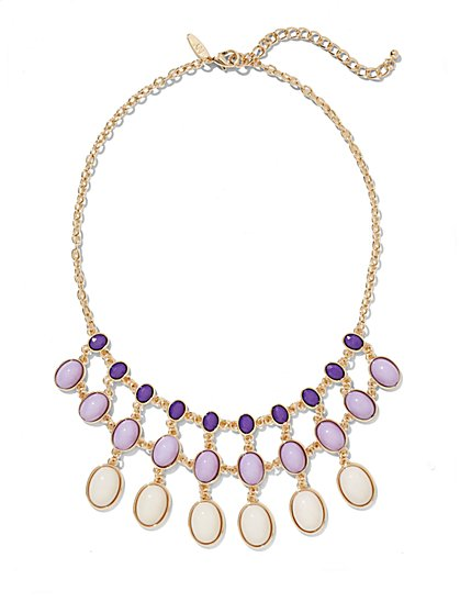 Three-Row Lavender Necklace  - New York & Company