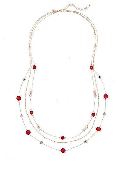 Three-Row Layered Necklace  - New York & Company