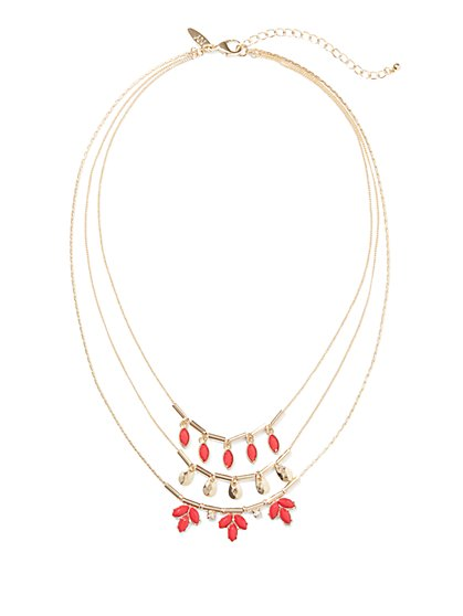 Three-Row Layered Necklace  - New York & Company
