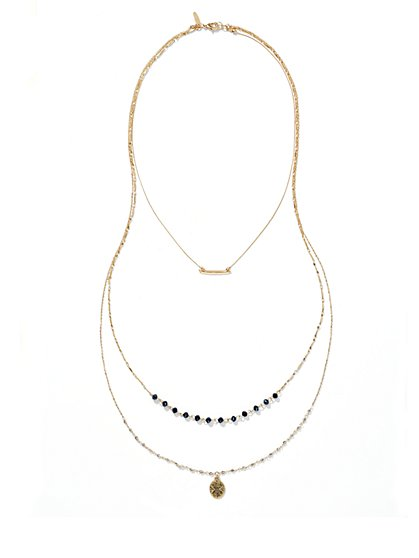Three-Row Necklace  - New York & Company