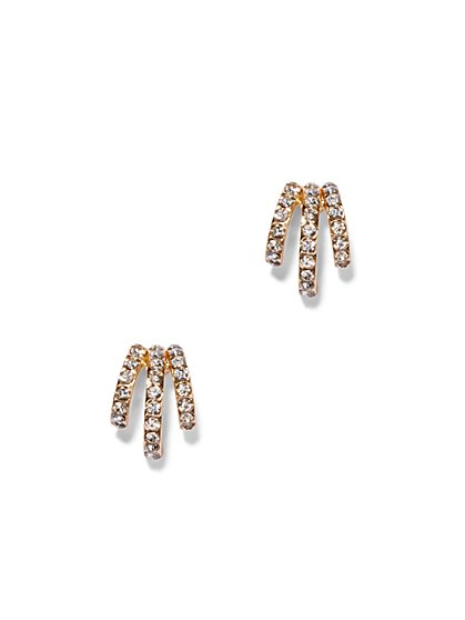 Three-Row Pavé Earring  - New York & Company