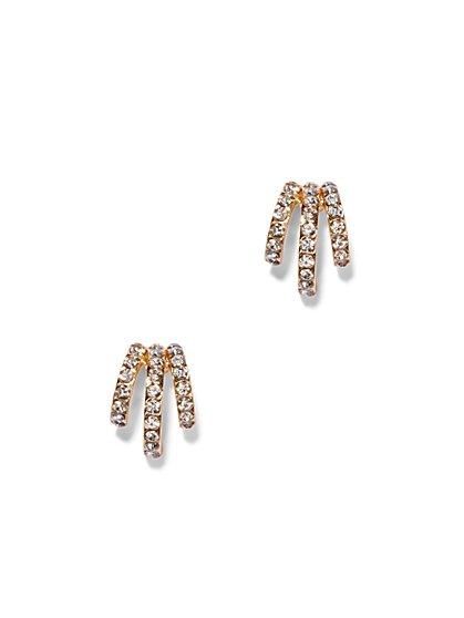 Three-Row Pavé Earring  - New York & Company
