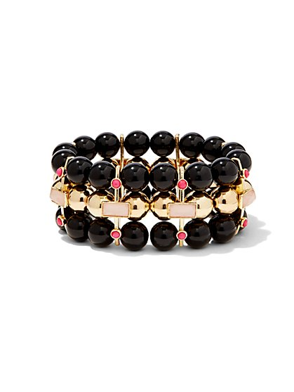 Three-Row Stretch Bracelet  - New York & Company