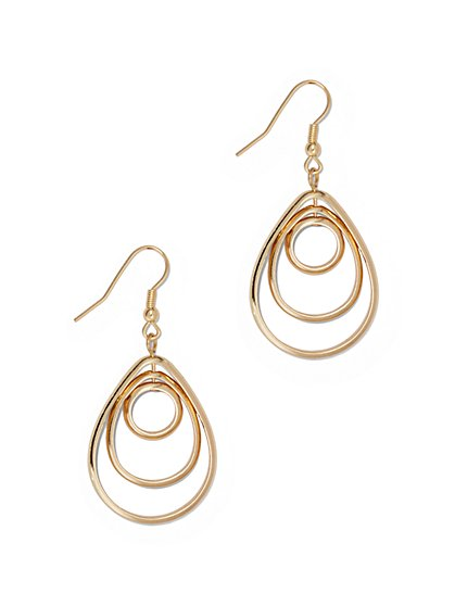 Three-Row Teardrop Earring  - New York & Company