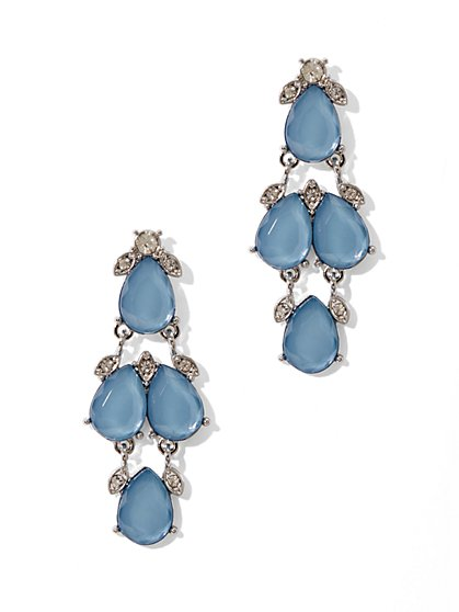 Three-Tiered Drop Earrings   - New York & Company