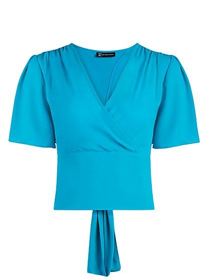 Tie-Back Wrap Blouse - New York & Company