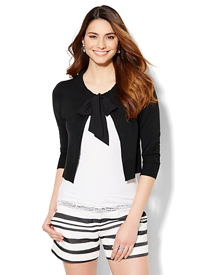 Tie-Front Cardigan - New York & Company